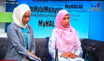 TV show about halal in Malaysian television